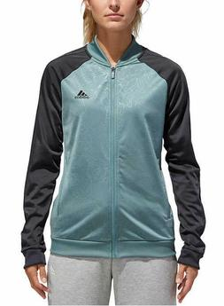 Adidas Women's Embossed Floral Print Track Jackets Full-Zip