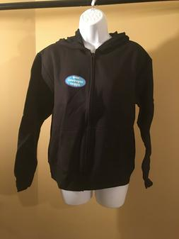 Hanes Women's Full-Zip Hooded Jacket Black Medium