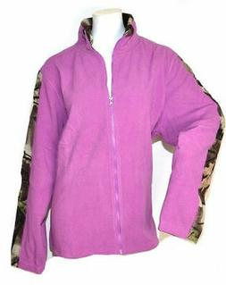 Women's Full Zip Solid Fleece Jacket In Orchid - 2X