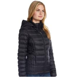 Women's HeatKeep Hooded Packable Puffer Down Jacket - Black