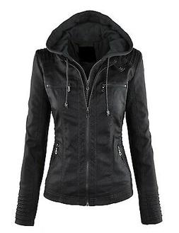 Made by Johnny Women's Jacket Black Size Small S Motorcycle