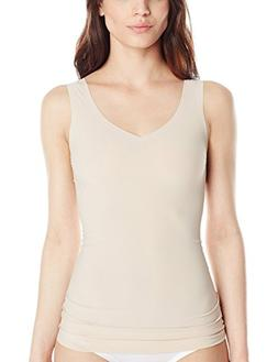 Flexees Women's Maiden Form Sleek Smoothers 2 Way Tank, Pari