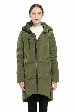 Orolay Women's Medium Stylish Down Coat Winter Jacket with H