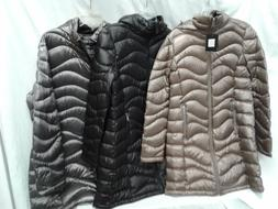 ANDREW MARC WOMEN'S MID LENGTH DOWN PUFFER JACKET WITH HOOD