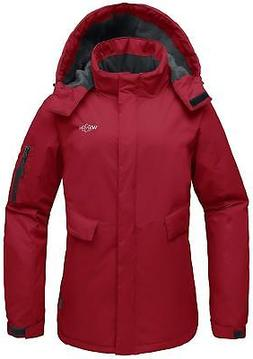 Wantdo Women's Mountain Ski Fleece Jacket Waterproof Parka W