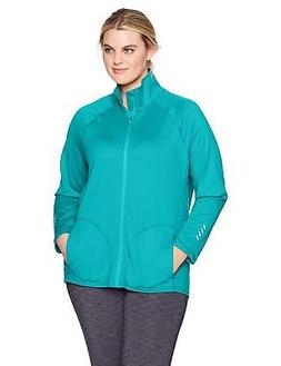 Just My Size Women's Plus Active Full-Zip Mock Neck Jacket,
