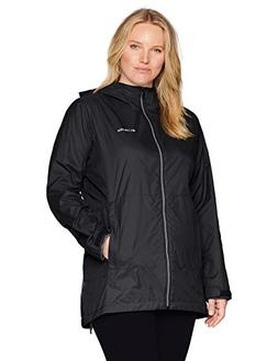 Columbia Women's Plus Size Switchback Lined Long Jacket, Bla