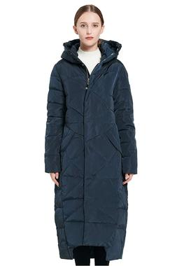 Orolay Women's Puffer Down Coat Winter Maxi Jacket with Hood