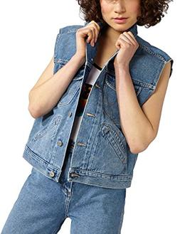 Wrangler Women's Retro Vest Kabel Denim Jacket in Blue in Si