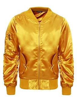 Women's Satin Ma1 Jacket Retro Army Flight Vintage Military