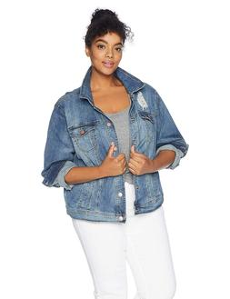 dollhouse Women's Size Genesis Plus Denim Jacket,