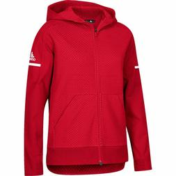 Adidas Women's Squad Jacket, Power Red White, Small, MSRP $8
