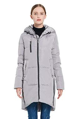c42b34af7ef1 Orolay Women s Stylish Thickened Down Jacket Hooded Coat Gre