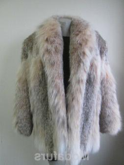 Women's Sz 10 Brand New Natural LYNX Fur Coat Jacket  CLEARA