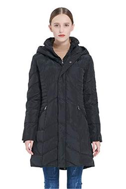 Orolay Women's Thickened Coat Puffer Down Jacket Black L