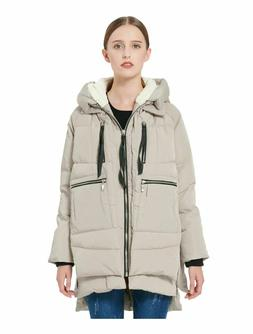 OROLAY Women's Thickened Down Jacket Beige XL NEW NWT