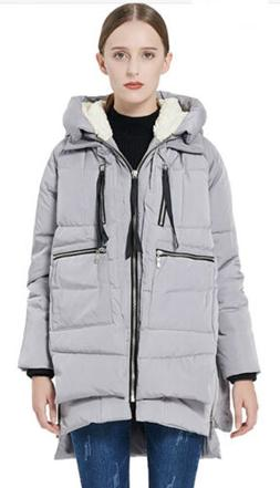 Orolay Women's thickened Down Jacket, Gray Size Small