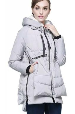 Orolay Women's Thickened Down Jacket Grey XXL