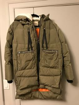 Orolay Women's Thickened Down Jacket in Green Size Small
