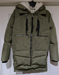Orolay Women's Thickened Down Jacket Olive Sage Green Size X