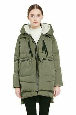 Orolay Women's Thickened Down Jacket,  Size X-Small, Green