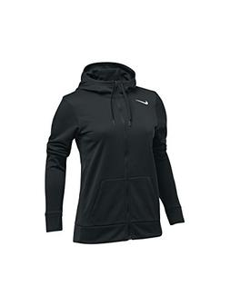 NIKE Women's Thrma All Time Full Zip Hoodie, Black, Small