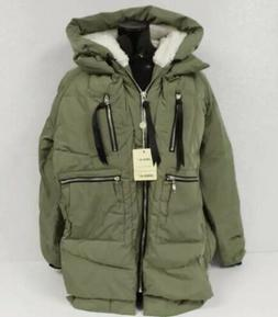 Orolay Women's US M Thickened Down Jacket Green/Orange