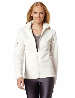 Columbia Women's White Fast Trek II Full Zip Fleece Classic