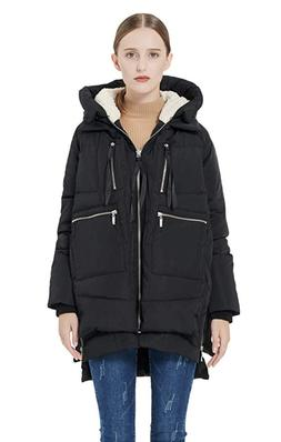 Women's Winter Jacket Orolay Women's Thickened Down Jacket L