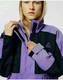 Nike Womens Anorak Half Zip Jacket Purple Black BQ3434 583 S