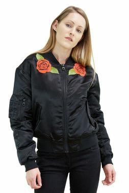 Eleven Paris Womens Bomber Jacket Beast Embroidered Flower W