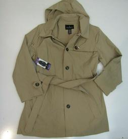 womens british khaki jacket trench coat nwt