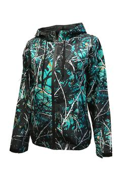 Womens Camo Windbreaker Jacket w/ Hood | Muddy Girl Serenity