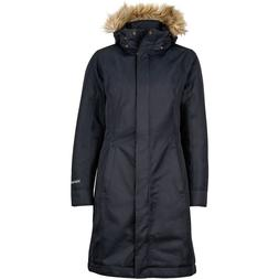 MARMOT WOMENS CHELSEA DOWN LONG JACKET COAT BLACK