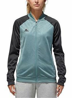 adidas Womens Embossed Print Track Jackets Full-Zip Climalit
