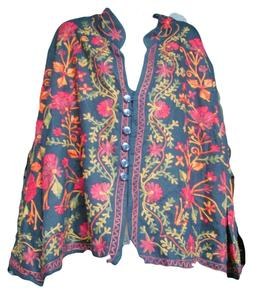 Vermont Country Store Womens Embroidered Long Sleeve Jacket