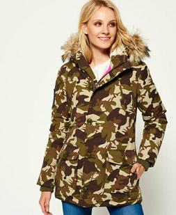 Womens Superdry Everest Parka Jacket Camo