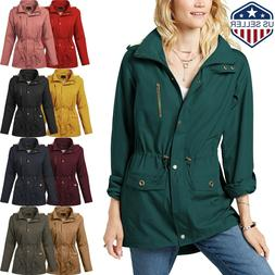 Womens Fur Jacket Fall Lined Coat Warm Insulated Puffer Sher