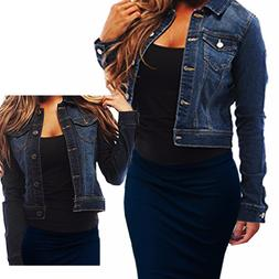 Womens Full Sleeve Coat Casual Jean Soft Denim Jacket