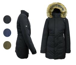 Womens Heavyweight Long Parka Jacket w/ Detachable Hood Warm