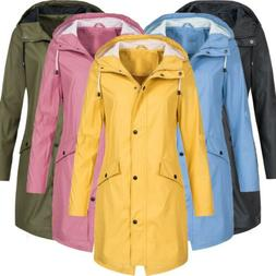 Womens Jacket Outdoor Waterproof Rain Long Sleeve Windbreake