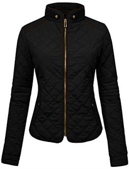 NE PEOPLE Womens Lightweight Quilted Zip Jacket, Small, NEWJ