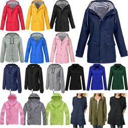 Womens Long Sleeve Hooded Wind Jacket Ladies Outdoor Winter