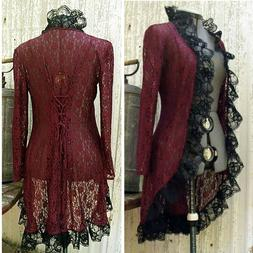 Womens Medieval Costume Romantic Jacket Steampunk Cardigan H