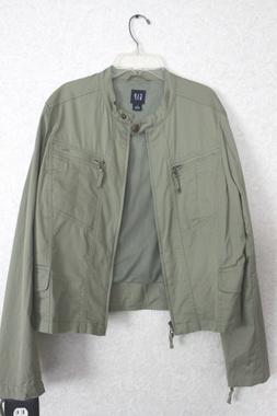 womens new oliver green zip up short jacket by The Gap size