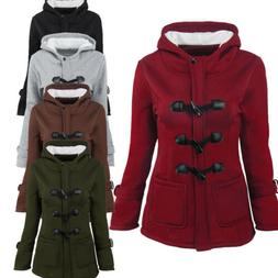 Womens Pea Coats Winter Outdoor Warm Wool Blended Classic Ho
