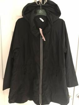 Womens Plus Ideology Packable Rain Jacket Black 2X