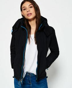 Superdry Womens Pop Zip Hooded Arctic Sd-Windcheater Jacket