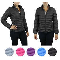 Womens Puffer Jacket - Lightweight Water Repellent Sizes S M