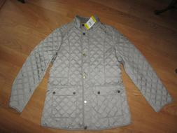 Lucky Brand Womens Quilted Lined Insulated Barn Jacket Coat